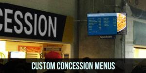 Custom Concession Menus