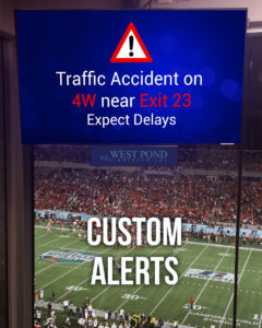 Alerts on Stadium TVs