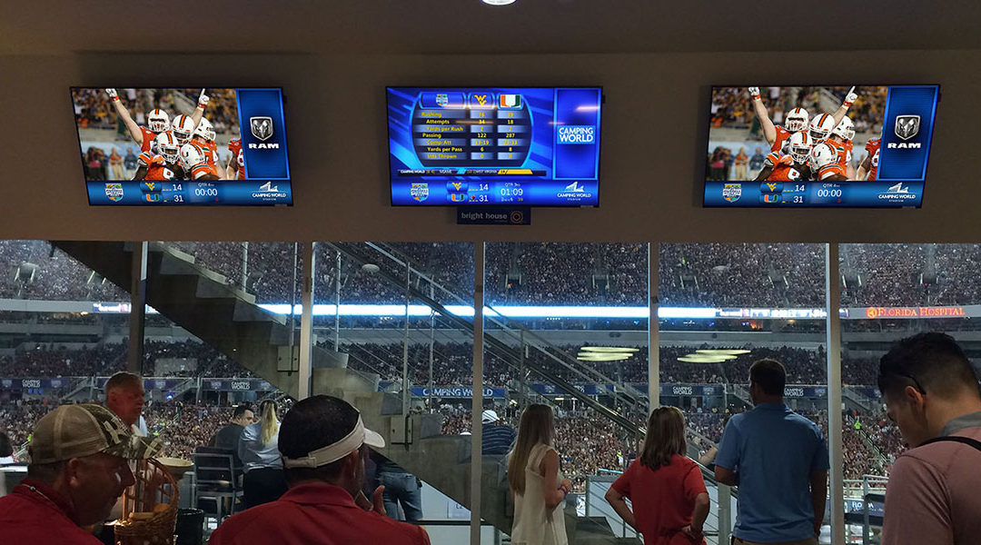 Creating Revenue Streams Through Stadium TVs